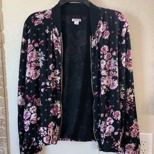 Sheer zippered blazer
